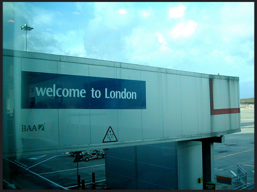 aeroport londres welcome