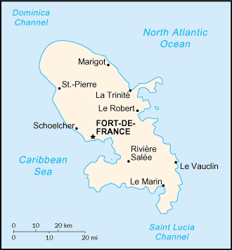 Carte Martinique